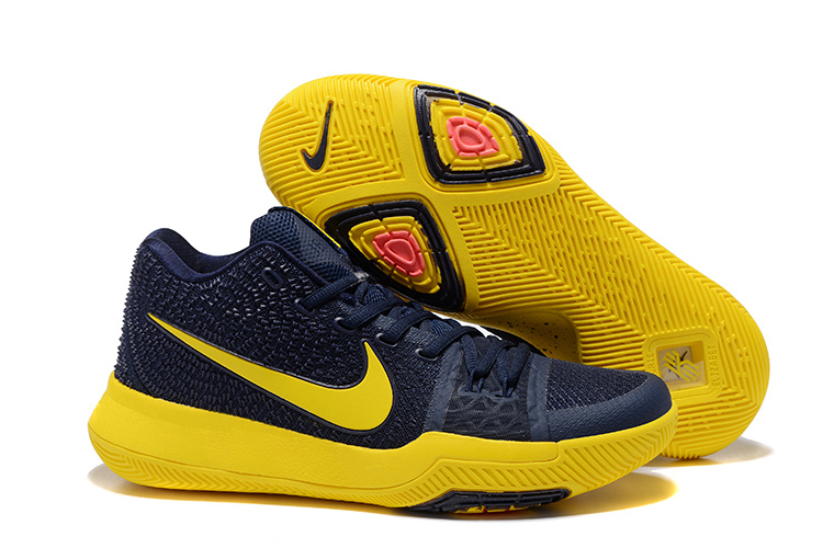Nike Kyrie 3 Black Yellow Basketball Shoes