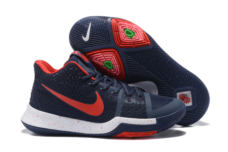 Nike Kyrie 3 Deep Blue Red Shoes