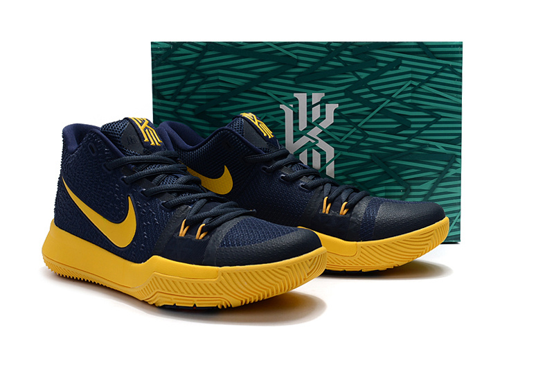 Nike Kyrie 3 Deep Blue Yellow Shoes For Women