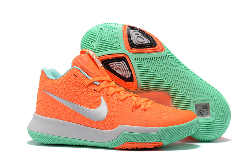 Nike Kyrie 3 Orange Silver Light Green Shoes