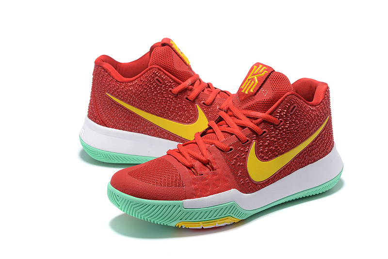 Nike Kyrie 3 Red Yellow White Green Basketball Shoes