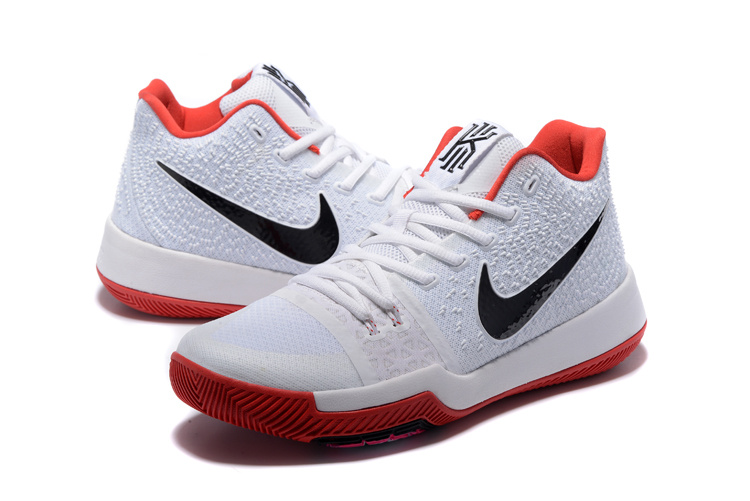 Nike Kyrie 3 White Black Red Shoes