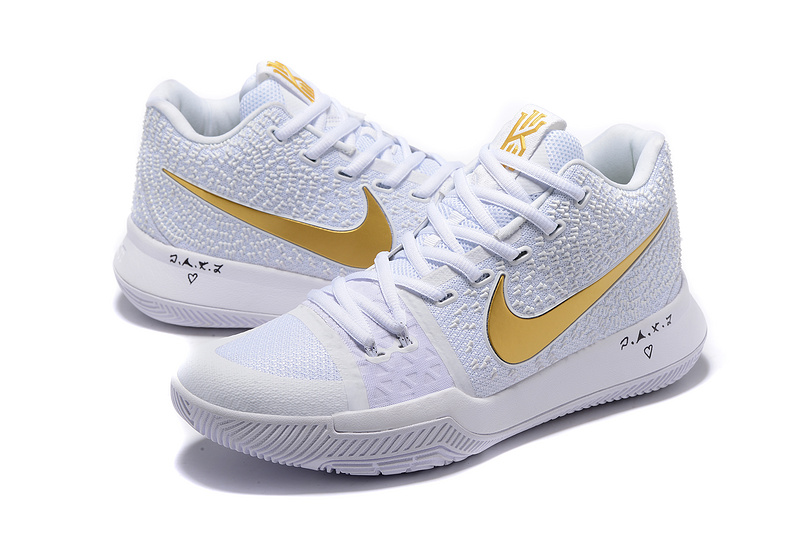Nike Kyrie 3 White Gold Shoes