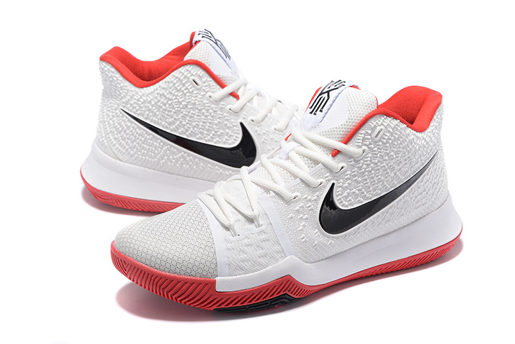 Nike Kyrie 3 White Red Black Shoes
