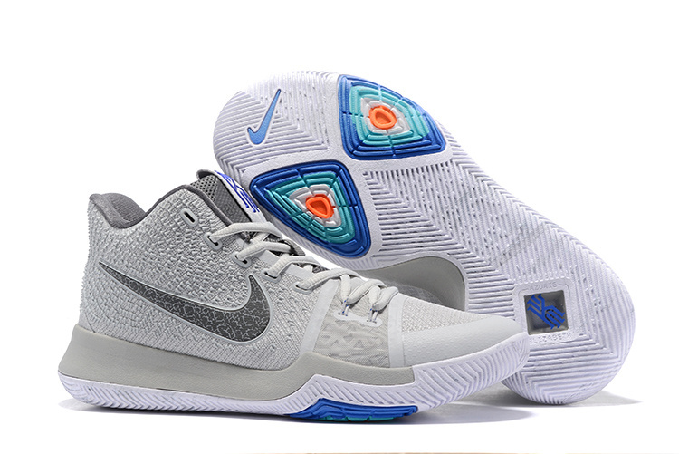 Nike Kyrie 3 Wolf Grey Blue Shoes