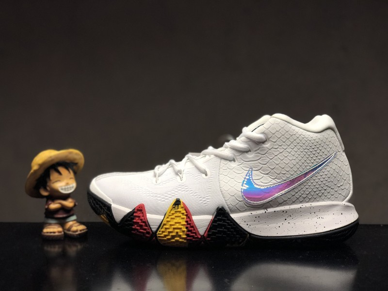 2020 Nike Kyrie 4 EP Mens Irving White Colorful Laser Basketball Shoes