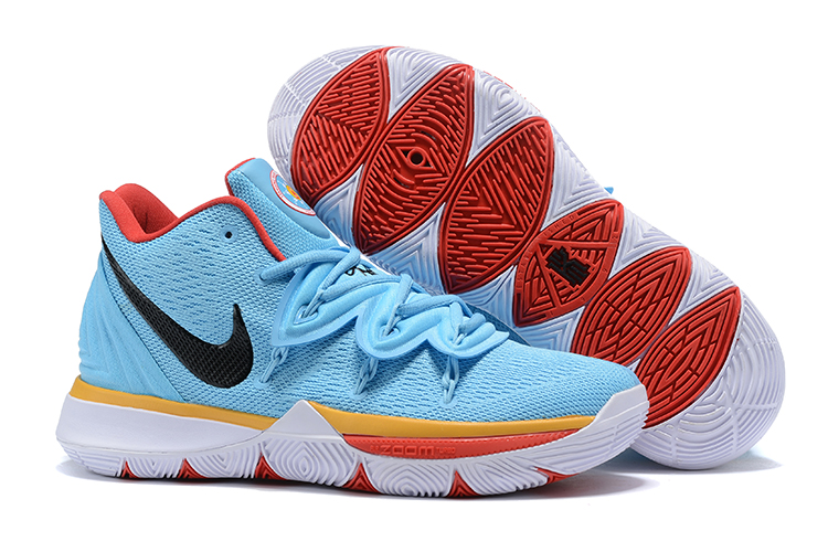 Nike Kyrie 5 Sky Blue Orange Shoes