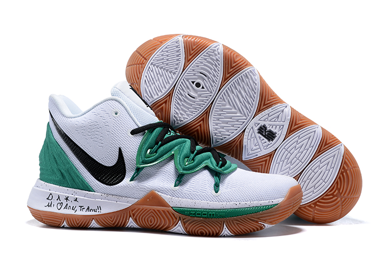 Nike Kyrie 5 White Green Shoes