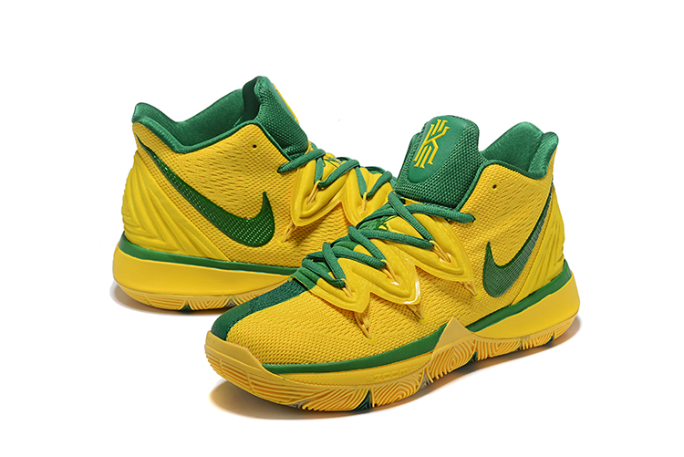 Nike Kyrie 5 Yellow Dark Green Shoes