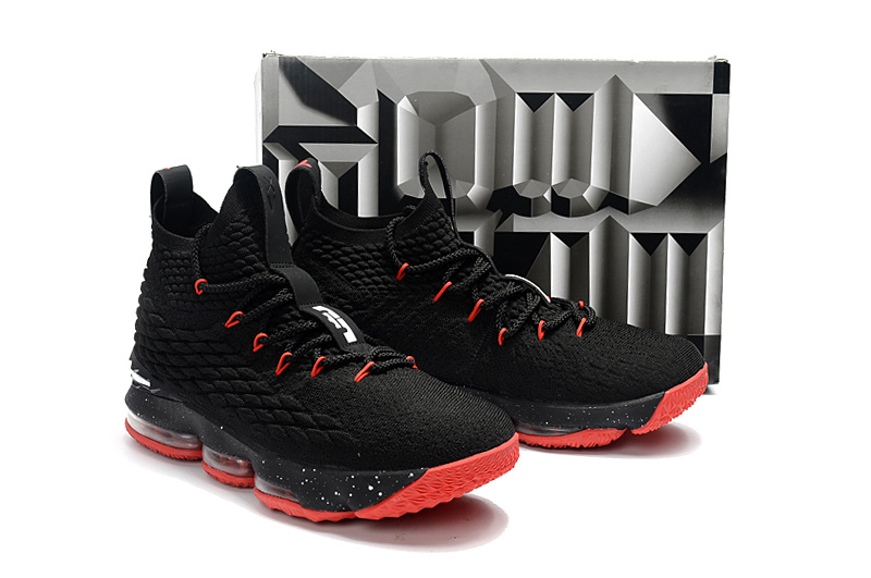 Nike Lebron 15 Black Red Shoes