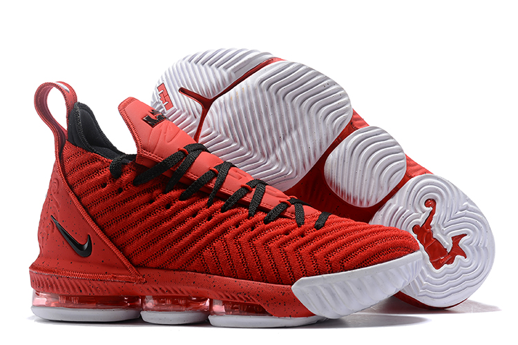 Nike Lebron 16 Red Black Shoes