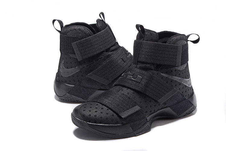 Nike Lebron Soldier 10 All Black Shoes