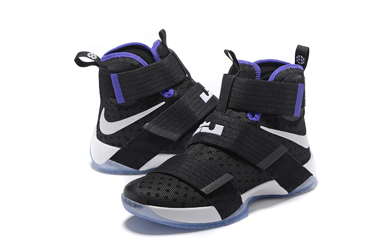 Nike Lebron Soldier 10 Black Blue White Shoes