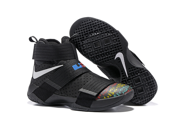 Nike Lebron Soldier 10 Black Colroful Shoes