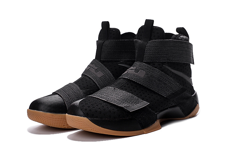 Nike Lebron Soldier 10 Black Navy Gum Shoes For Women