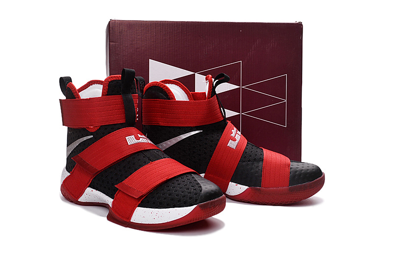 Nike Lebron Soldier 10 Black Red Shoes