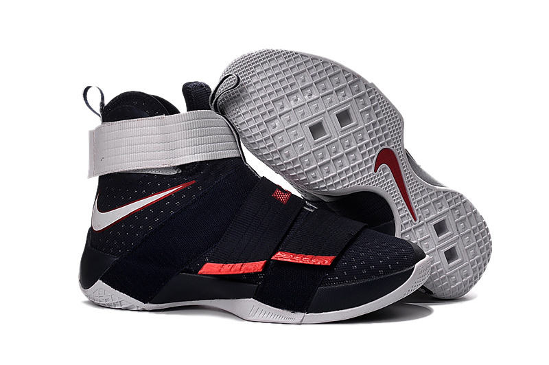 Nike Lebron Soldier 10 Black White Shoes For Women
