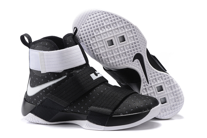 Nike Lebron Soldier 10 Black White Shoes