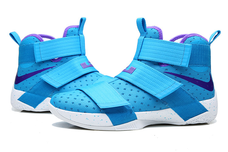 Nike Lebron Soldier 10 Blue White Shoes