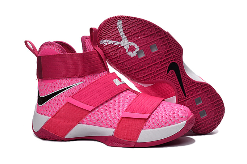 Nike Lebron Soldier 10 Breast Cancer Pink White Shoes For Women