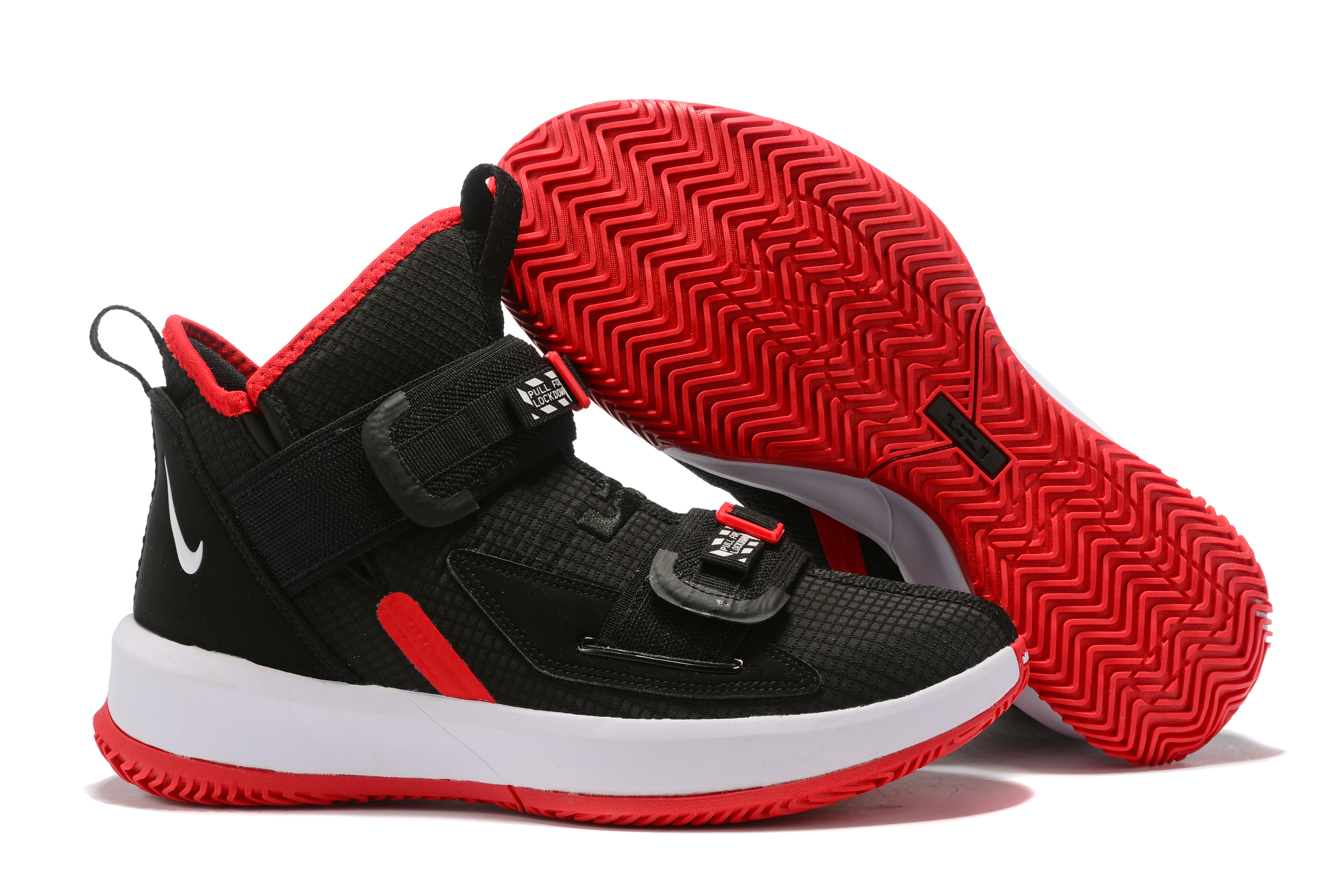 Nike Lebron Solider 13 Black Red Shoes