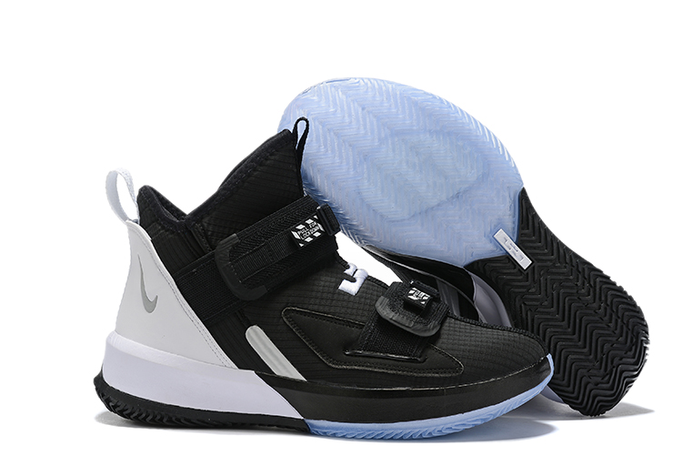 Nike Lebron Solider 13 Black White Shoes
