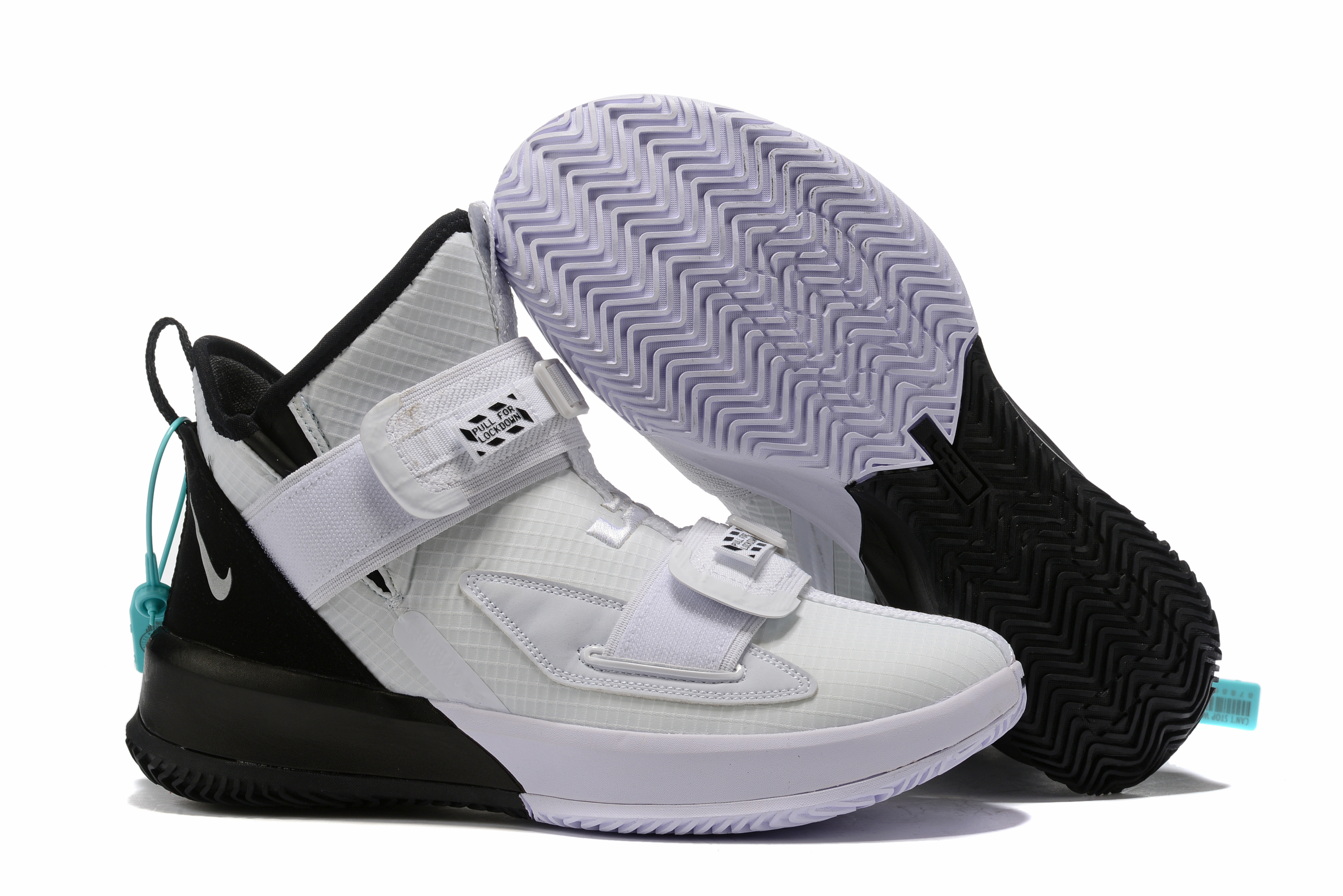Nike Lebron Solider 13 White Black Shoes