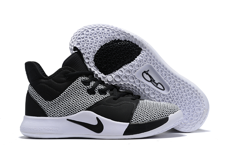 Nike PG 3 White Black Basketball Shoes