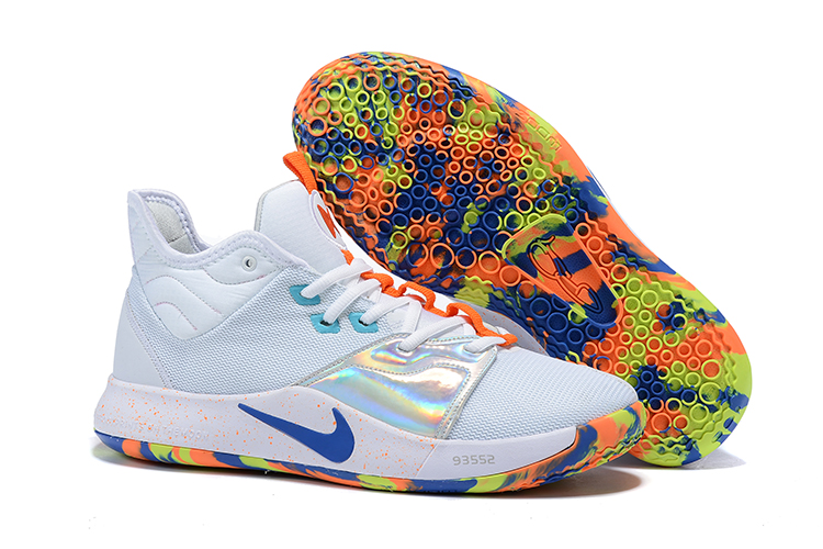 Nike PG 3 White Green Blue Shoes