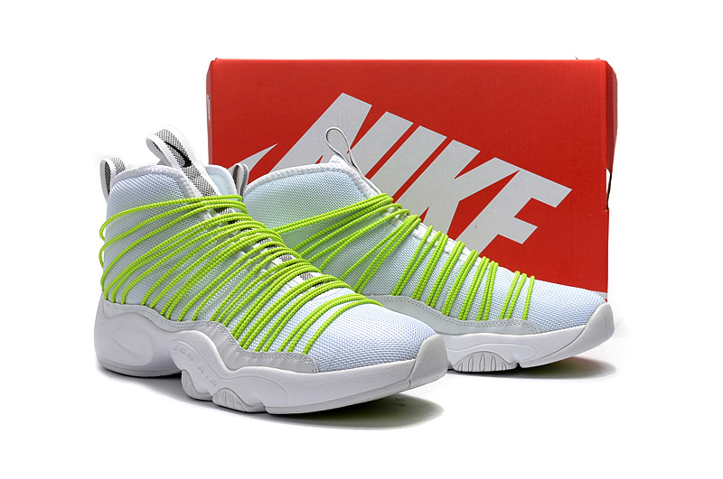 Nike Zoom Cabos White Fluorscent Green Shoes