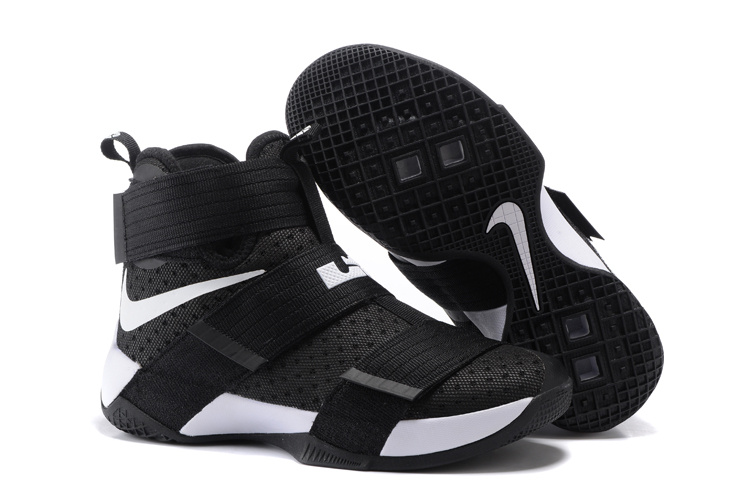 Nike Zoom Lebron Soldier 10 Black White Shoes