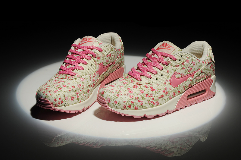 Cheap Nike Air Max 90 Flower WomenPeach