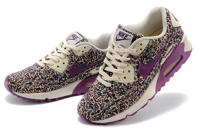 Fashion Nike Air Max 90 Flower WomenViolet