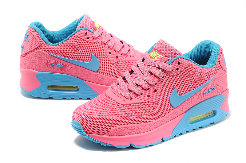 Fashion Nike Air Max 90 Honeycomb Women Pink Moon blue Great Dis