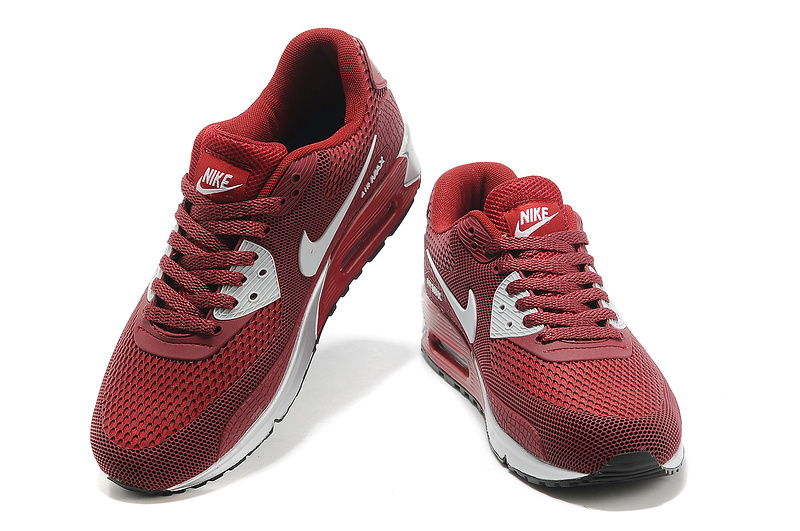 Nike Air Max 90 Honeycomb Men Wine red Silver UK Cheap