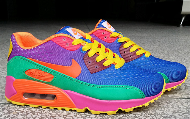 UK Cheap Nike Air Max 90 PRM EM Women Royal blue Grass Green Cri