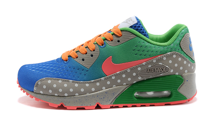 Nike Air Max 90 PRM EM Women Royal blue Grass Green Orange red C