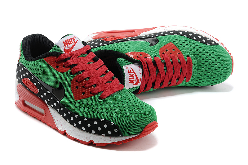 Nike Air Max 90 PRM EM Women Grass Green Red Black New UK