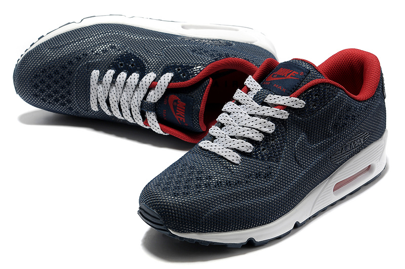 Nike Air Max 90 Net Cloth Men Deep blue Red