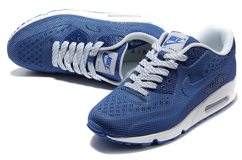 Nike Air Max 90 Net Cloth Men Royal blue White Discount UK