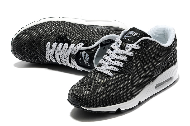 Cheap Nike Air Max 90 Net Cloth Men Black White Cheap Men UK