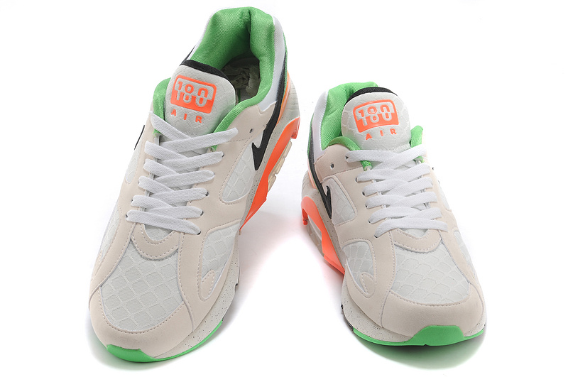 Nike Air Max 180 Men White Ivory White Black Green Orange red Ch