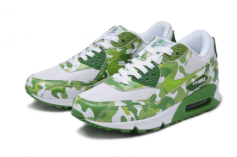 Nike Air Max 90 Camouflage Women White Grass Green Camouflage Fa