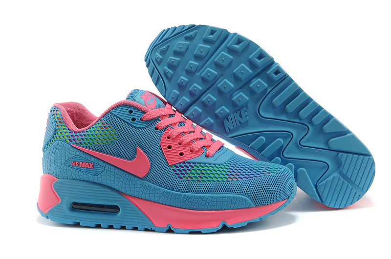 Nike Air Max 90 II Camouflage Women Sky Blue Pink Fluorescent sp