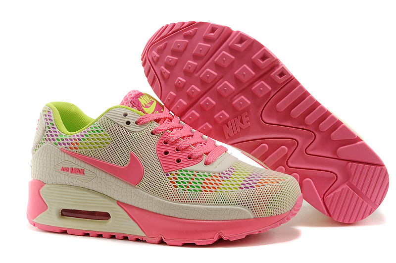 New UK Nike Air Max 90 II Camouflage Women Ivory White Pink Fluo