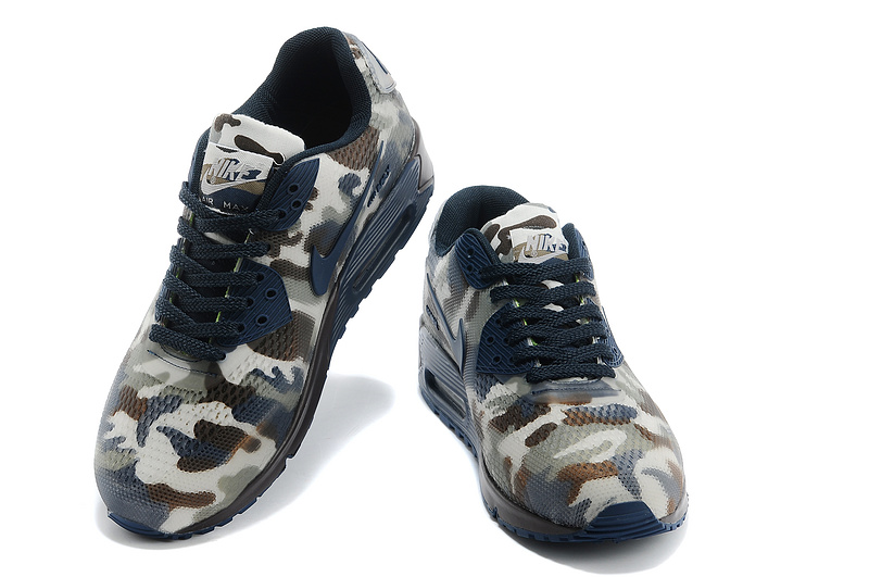 Nike Air Max 90 II Camouflage Men Indigo White Chocolate Camoufl
