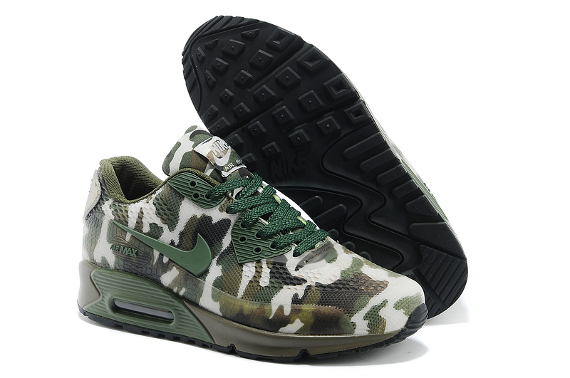 Nike Air Max 90 II Camouflage Women Deep Navy Green White Black