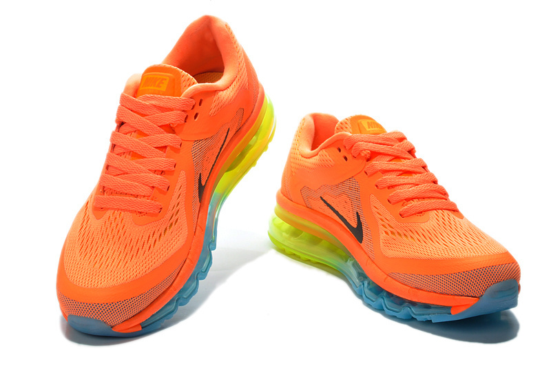 High Quality Nike Air Max 2014 Women Orange Yellow Fluorescent g