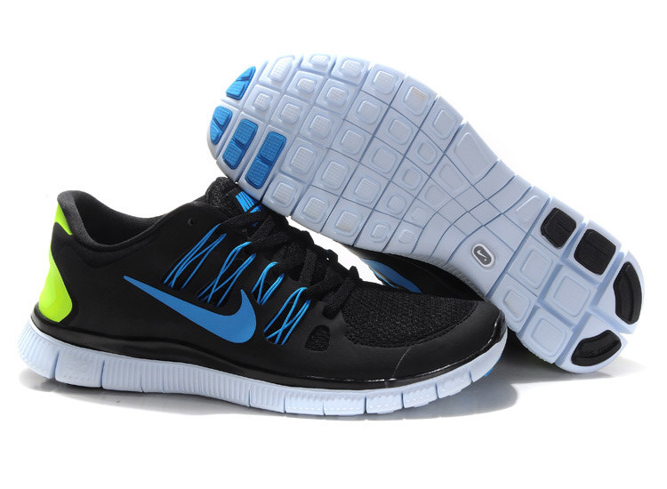 Mens Nike Free Run Black Blue 5.0+ 5 + H286