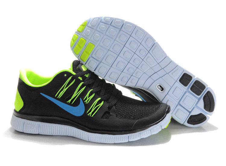 Mens Nike Free Run Black Fluorescence Green 5.0+ 5 + H293